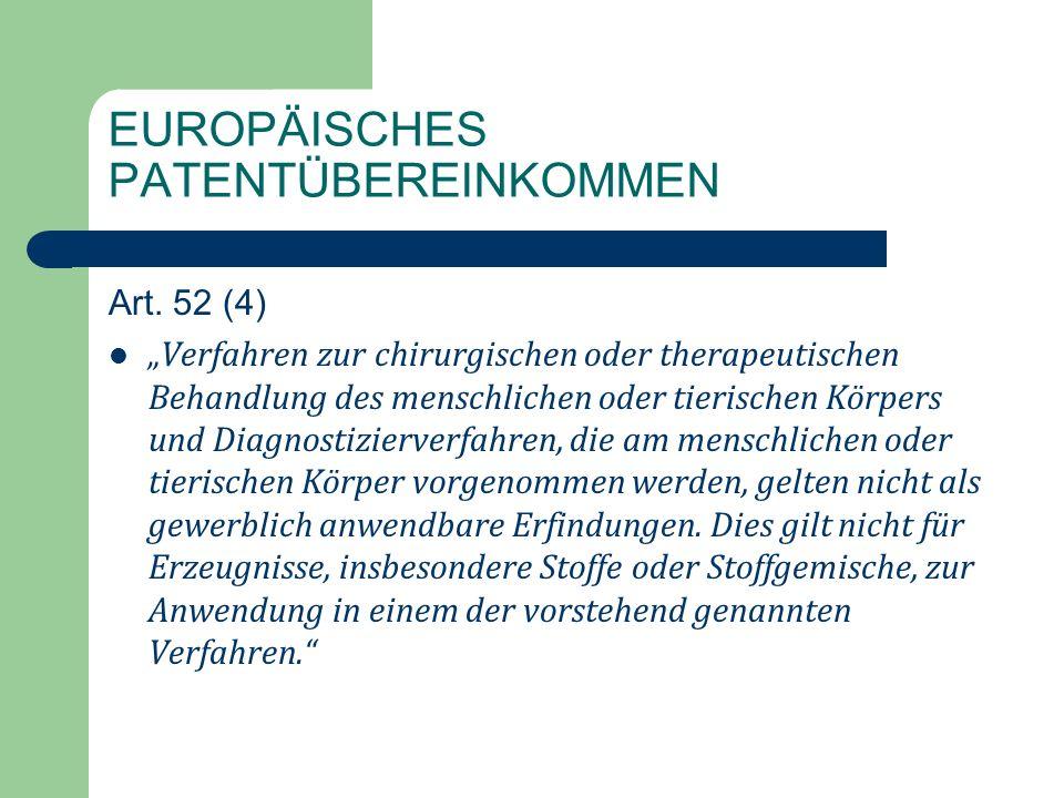 EUROPÄISCHES PATENTÜBEREINKOMMEN Art.