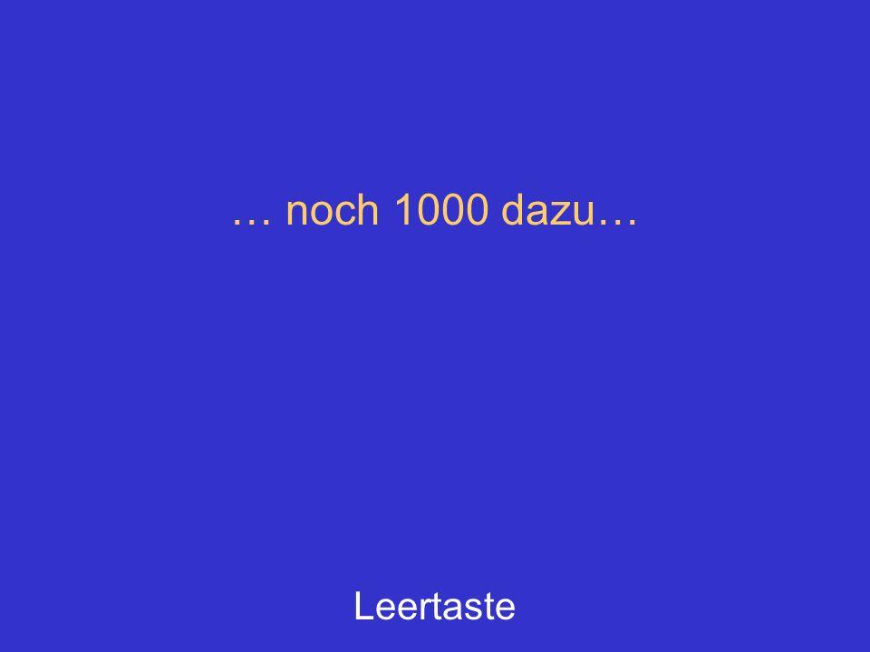 … noch 1000 dazu… Leertaste