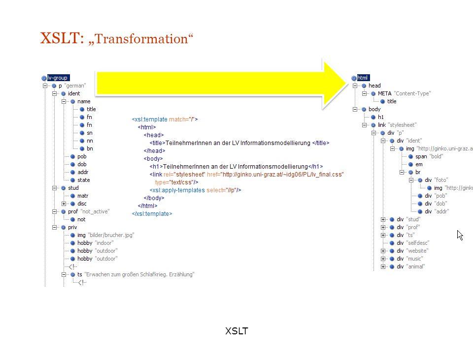 XSLT XSLT: Transformation