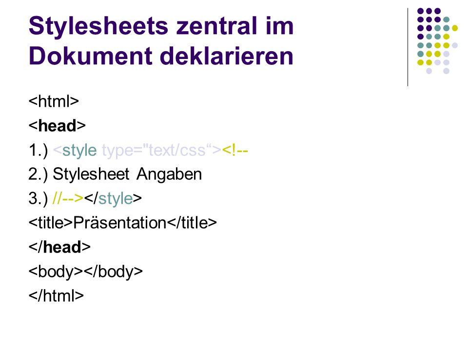 Stylesheets in einer externen Datei auslagern