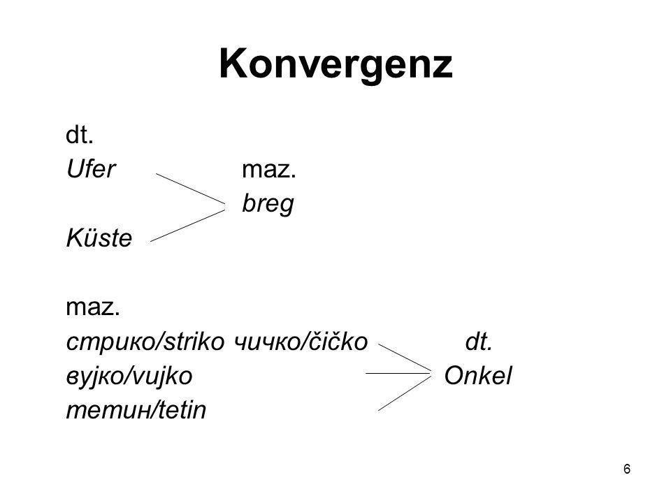 6 Konvergenz dt.Ufer maz. breg Küste maz. стрико/striko чичко/čičko dt.