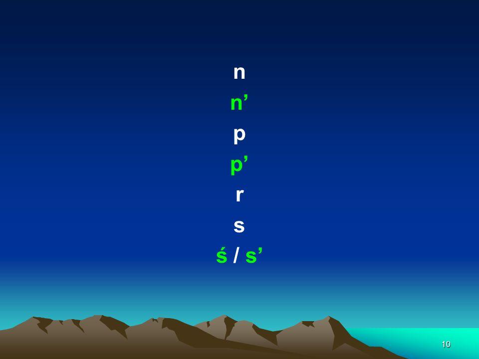 10 n p r s ś / s