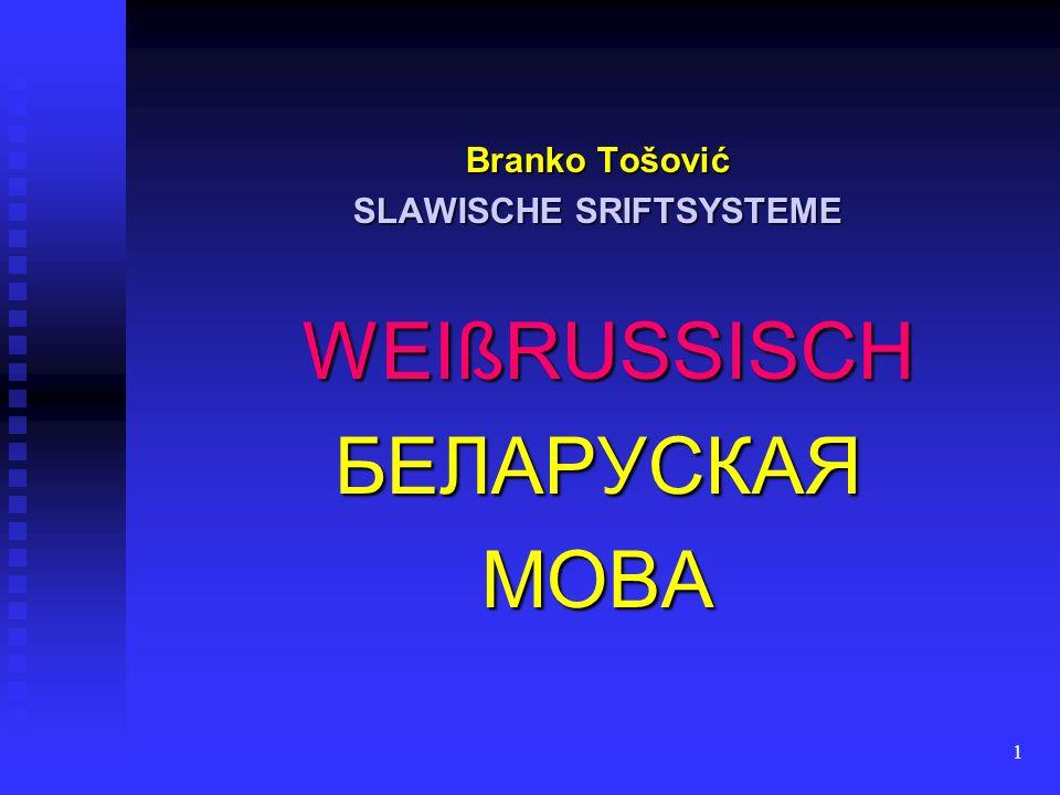 2 bis zur Oktoberrevolution bis zur Oktoberrevolution vornehmlich in kyrillischen Schrift vornehmlich in kyrillischen Schrift auf polnischen und litauischem Gebiet (woran man dort z.