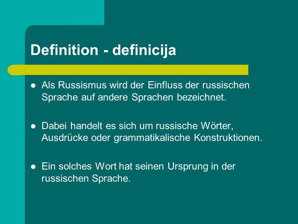 Russifikation In Ländern, die lange Zeit unter russischem bzw.