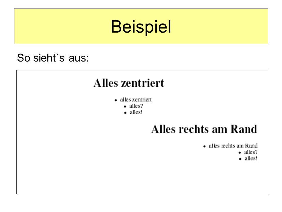 Älteres Blockelement für zentrierte Bereiche: Sie können mehrere Absätze, bestehend aus ganz verschiedenen Elementen wie Text, Grafiken, Tabellen usw.