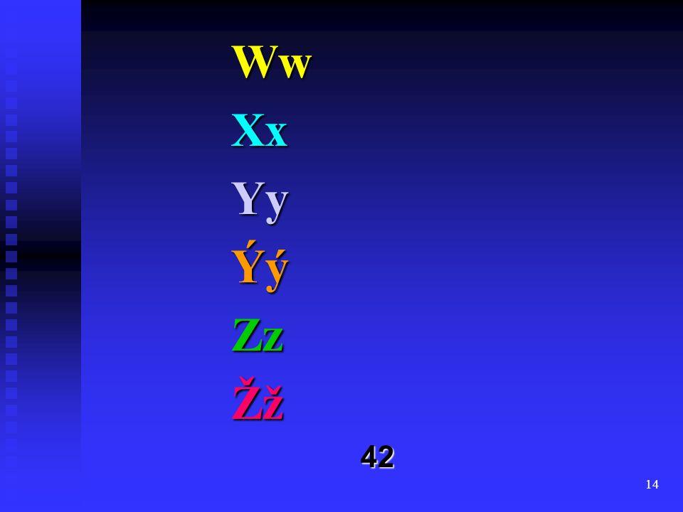 14 WwXxYyÝýZzŽž42