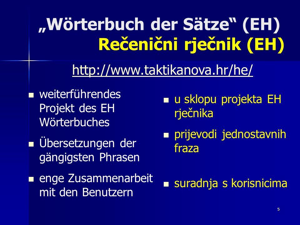 6 Andere engl.kroat. Wörterbücher auf der EH-Datothek basierend Drugi engl.