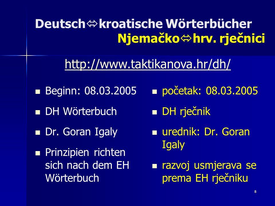 9 Deutsch kroatische Wörterbücher Njemačko hrv.rječnici bidirektional umfasst ca.