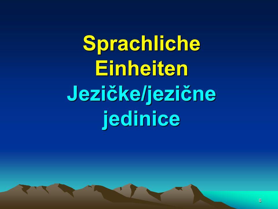 29 das Phonem – fonem(a) kleinste bedeutungsunterscheidende sprachliche Einheit z.B.