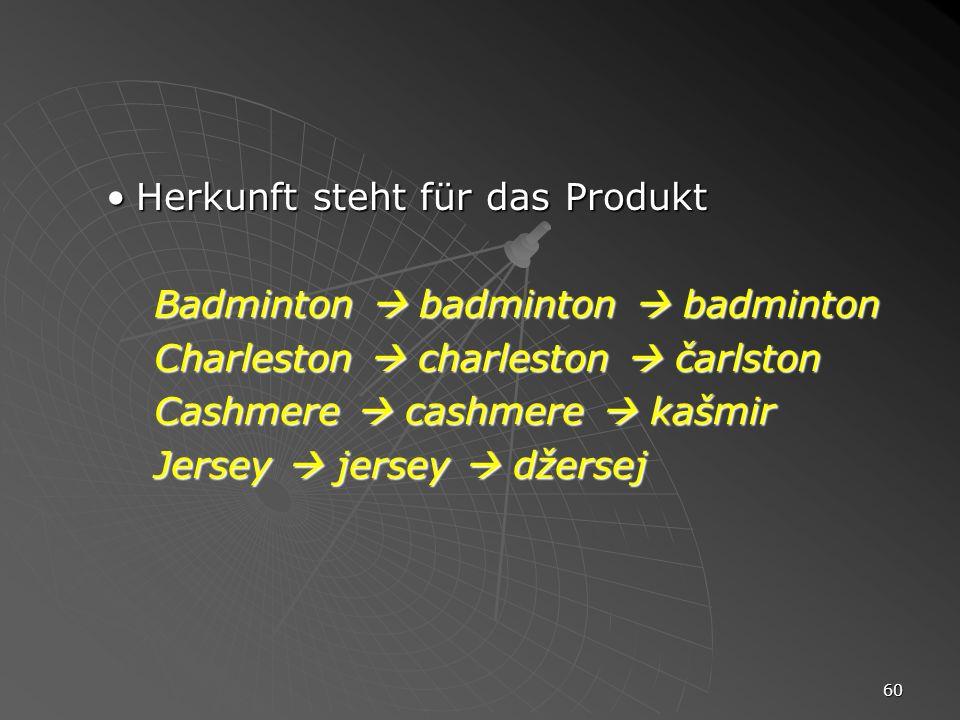 60 Herkunft steht für das ProduktHerkunft steht für das Produkt Badminton badminton badminton Charleston charleston čarlston Cashmere cashmere kašmir