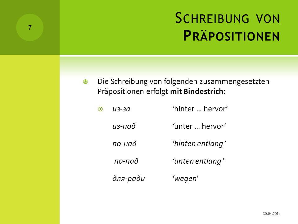 S CHREIBUNG VON P ARTIKELN b) nach Konjunktionen z.
