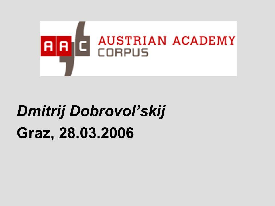 Национальный корпус русского языка (http://www.ruscorpora.ru).http://www.ruscorpora.ru Subcorpus früherer Texte (Anfang des XIX.