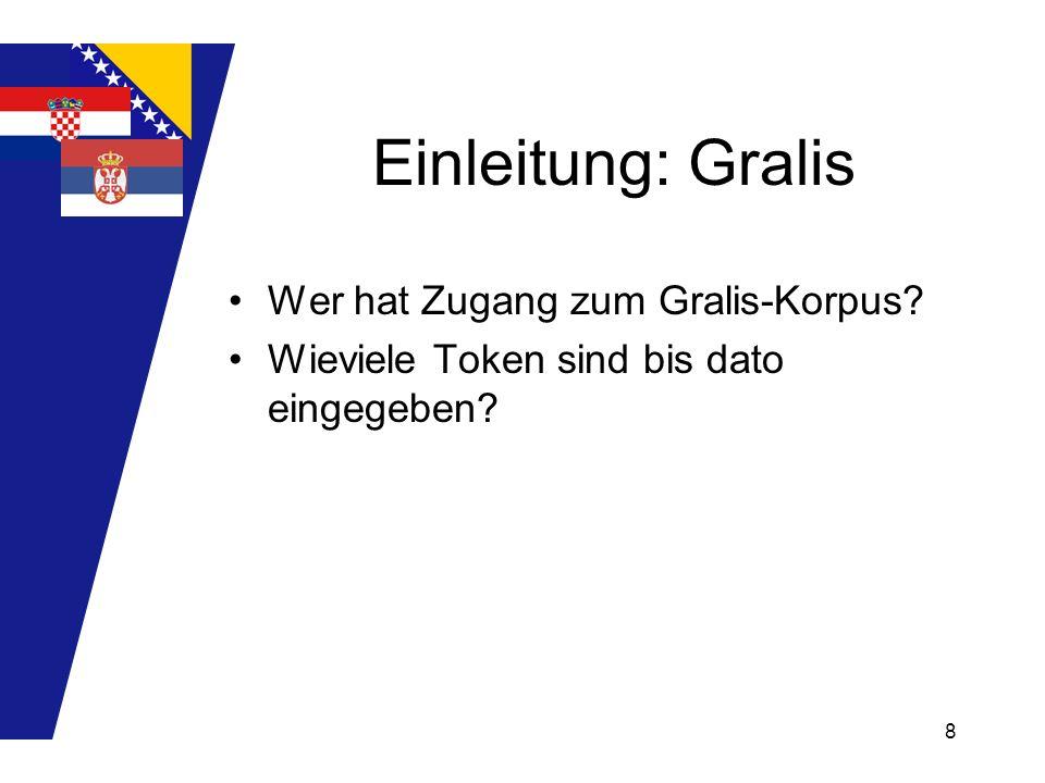 9 Das Projekt ca.150 Germanismen sortiert nach: 1.Treffern im B, K und S.