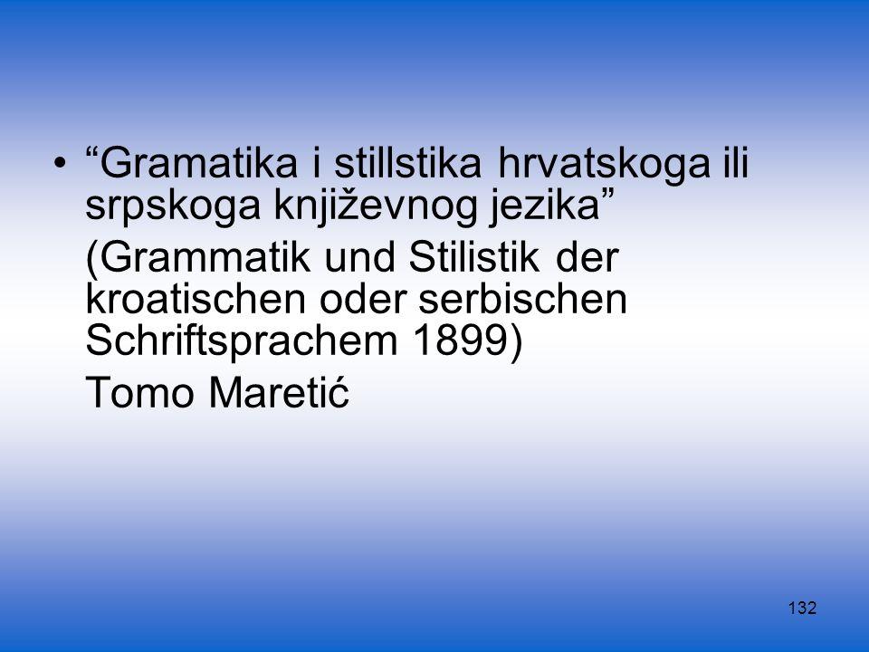 132 Gramatika i stillstika hrvatskoga ili srpskoga književnog jezika (Grammatik und Stilistik der kroatischen oder serbischen Schriftsprachem 1899) To