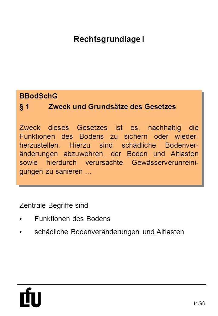11/98 Schadstoffkonzentration im Sickerwasser - Sickerwasserprognose - Anhang 1 Nr.