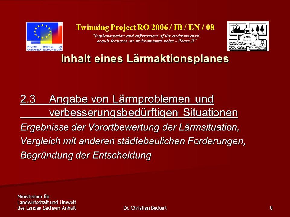 Ministerium für Landwirtschaft und Umwelt des Landes Sachsen-Anhalt Dr.