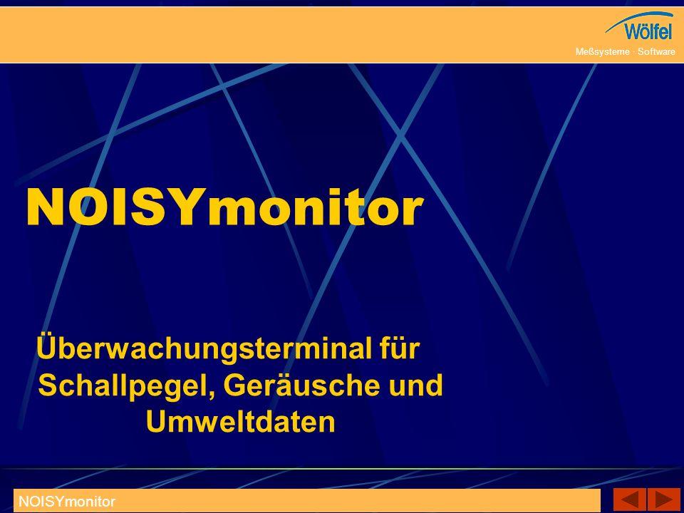 30.09.2008 Meßsysteme · Software NOISYmonitor 2 Überwachungsterminal für Schallpegel, Geräusche und Umweltdaten