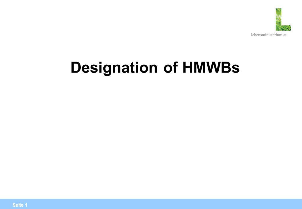 Seite 1 Designation of HMWBs