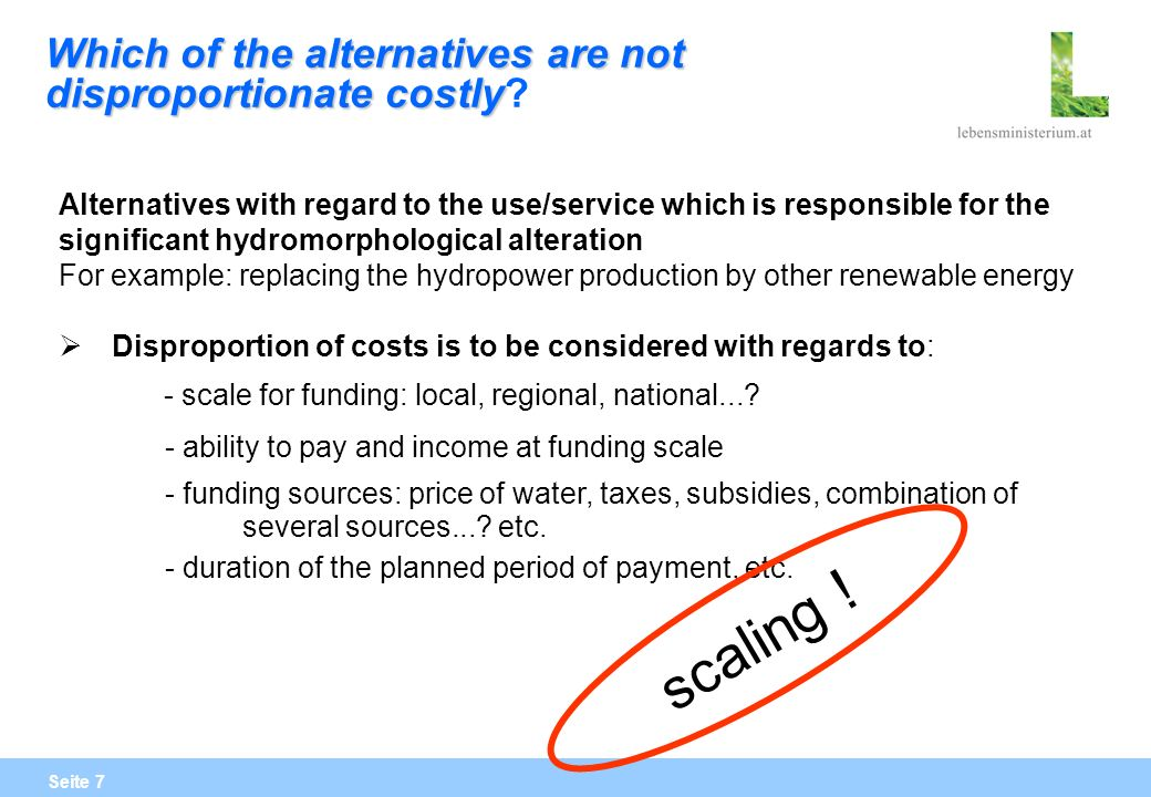 Seite 28 Das Entfernen von Querbauwerken zur Beseitigung von Wanderhindernissen, die energiewirtschaftlich genutzt sind oder dem Hochwasserschutz dienen, stellt eine signifikante Auswirkung auf die Nutzung dar.