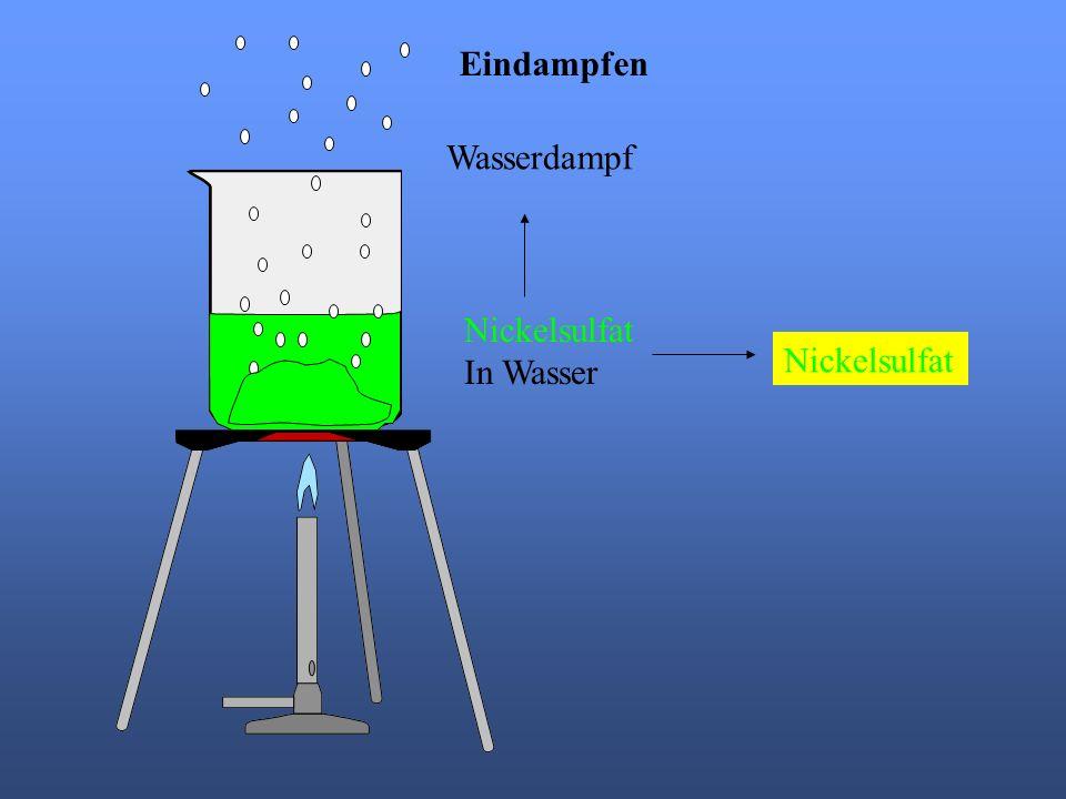 Nickelsulfat In Wasser Eindampfen Wasserdampf Nickelsulfat