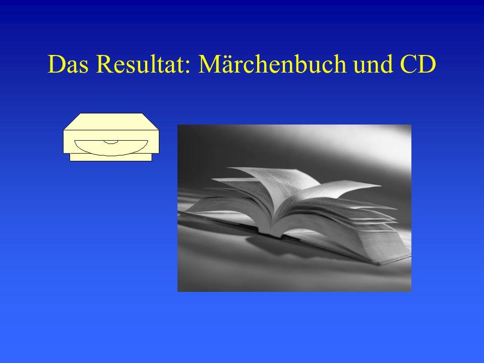 Das Resultat: Märchenbuch und CD