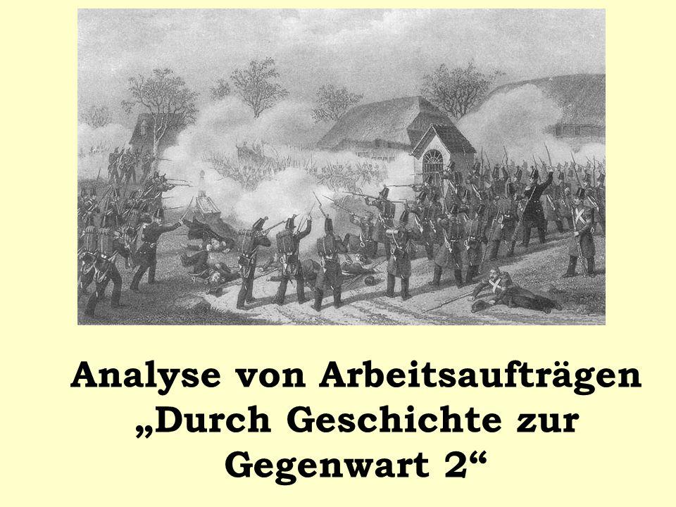 Analyse von Arbeitsaufträgen Durch Geschichte zur Gegenwart 2