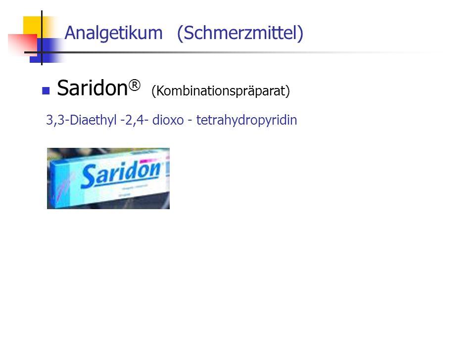 Analgetikum (Schmerzmittel) Saridon ® (Kombinationspräparat) 3,3-Diaethyl -2,4- dioxo - tetrahydropyridin