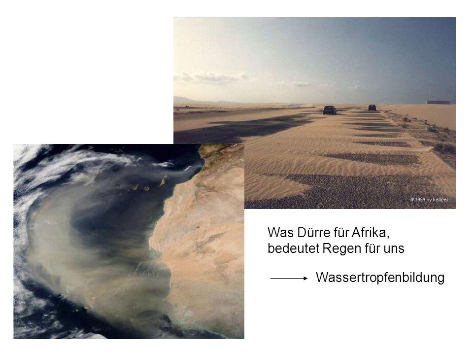 Was Dürre für Afrika, bedeutet Regen für uns Wassertropfenbildung