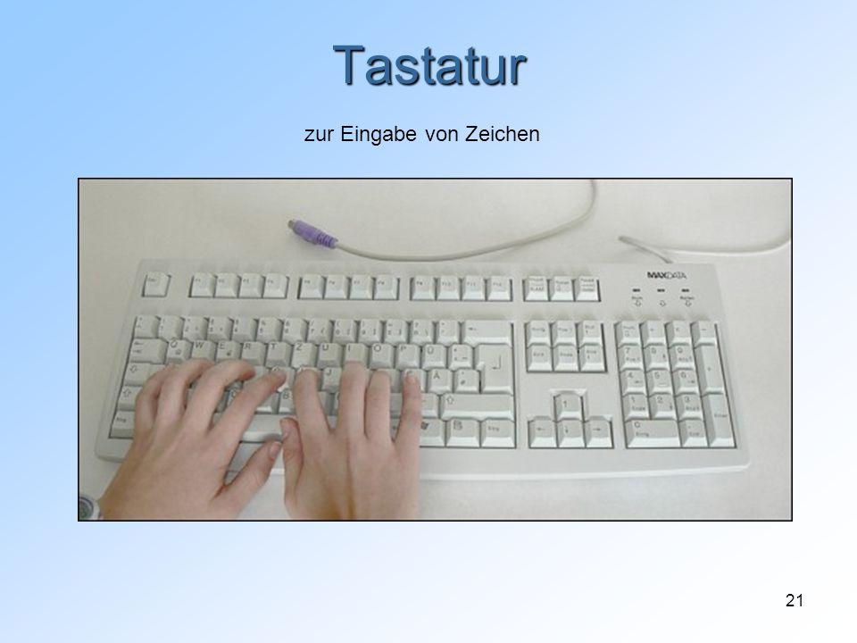 21 Tastatur zur Eingabe von Zeichen
