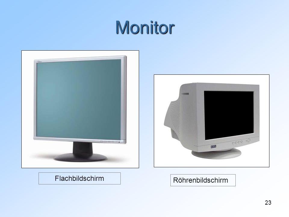 23 Monitor Röhrenbildschirm Flachbildschirm