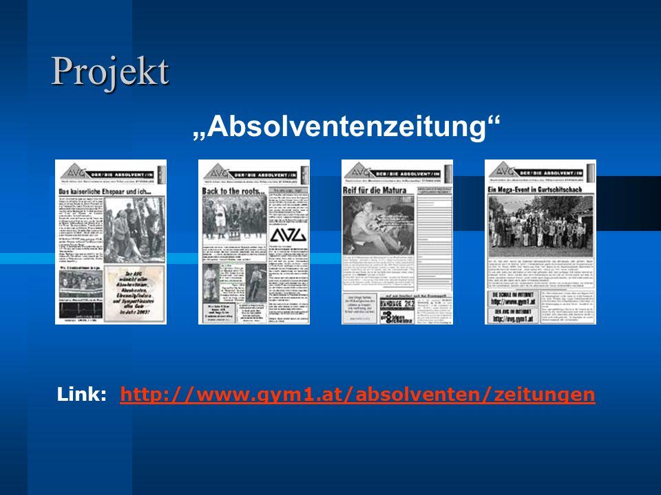 Projektziele 1.Quartalsausgabe (Nr. 31) Druck und Online-Darstellung Absolute Deadline.