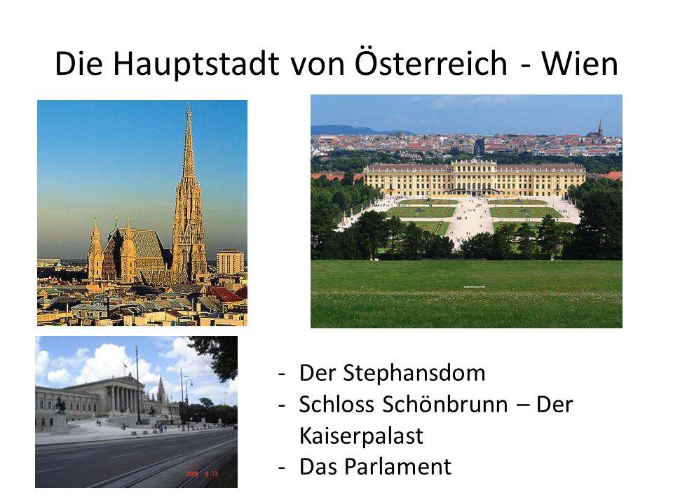 Die Hauptstadt von Österreich - Wien -Der Stephansdom -Schloss Schönbrunn – Der Kaiserpalast -Das Parlament