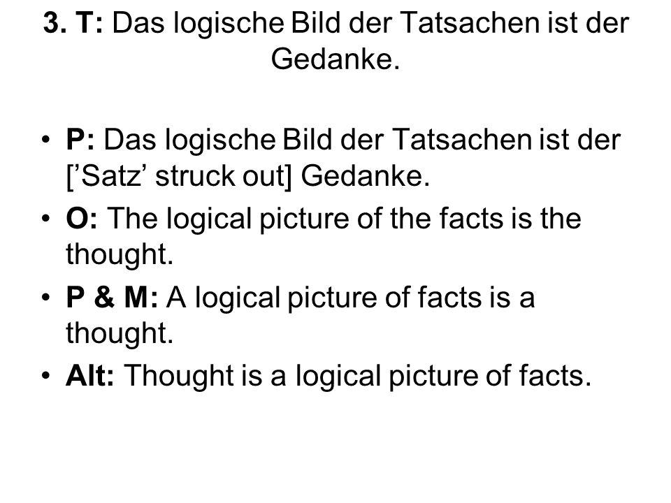 3.T: Das logische Bild der Tatsachen ist der Gedanke.