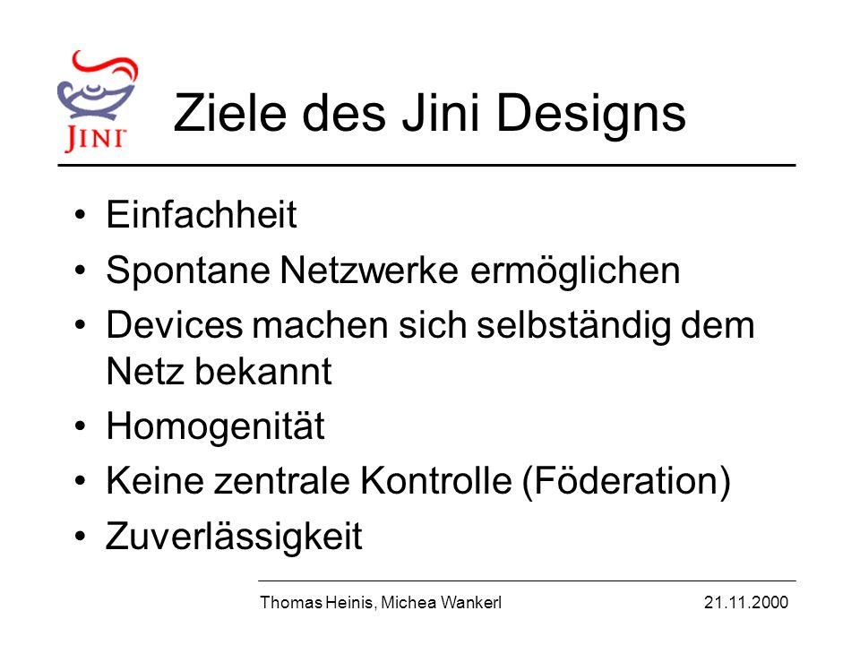 Beispiel: Kommunikation Thomas Heinis, Michea Wankerl21.11.2000 LUS Proxy Dienst-Proxy