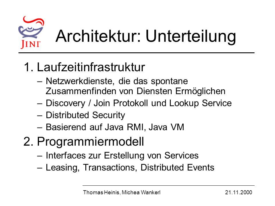 Architektur: Unterteilung 1.