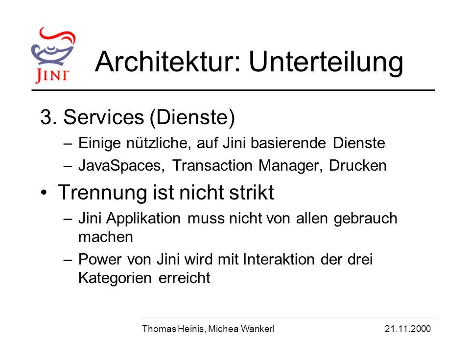 Architektur: Unterteilung 3.