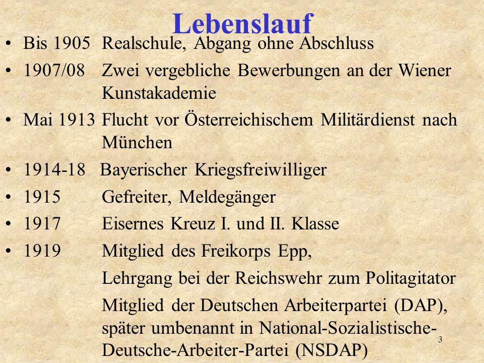 3 lebenslauf bis 1905 realschule abgang ohne abschluss 190708 zwei vergebliche bewerbungen an der wiener kunstakademie - Hitlers Lebenslauf