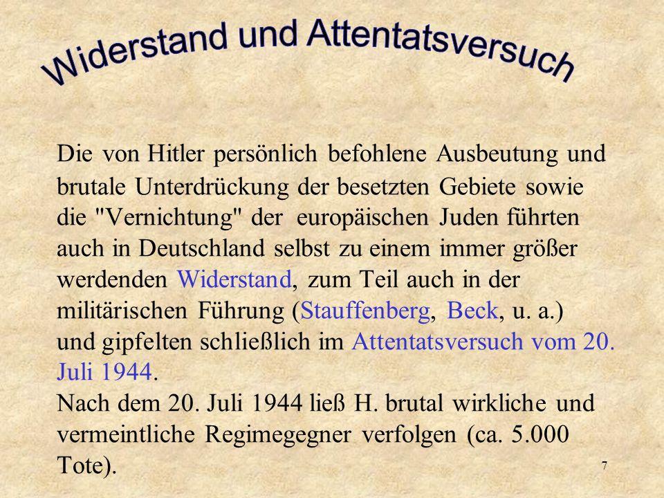 6 Hitler liquidierte den Versailler Vertrag, führte am 16. März 1935 die allgemeine Wehrpflicht ein und begann systematisch mit der Wiederaufrüstung d