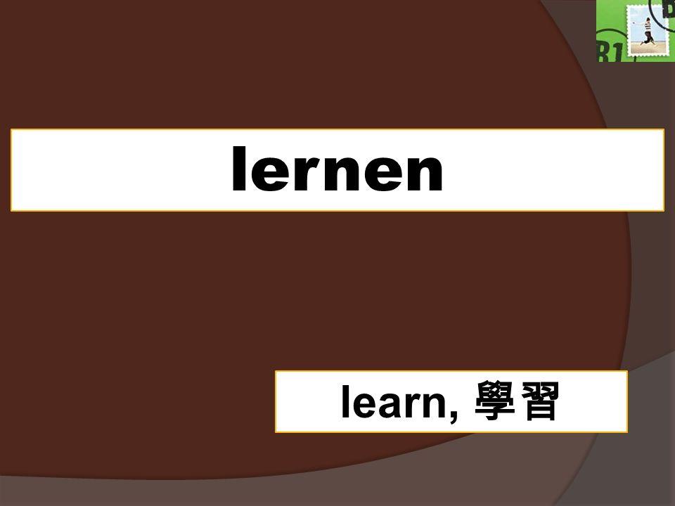 lernen learn,