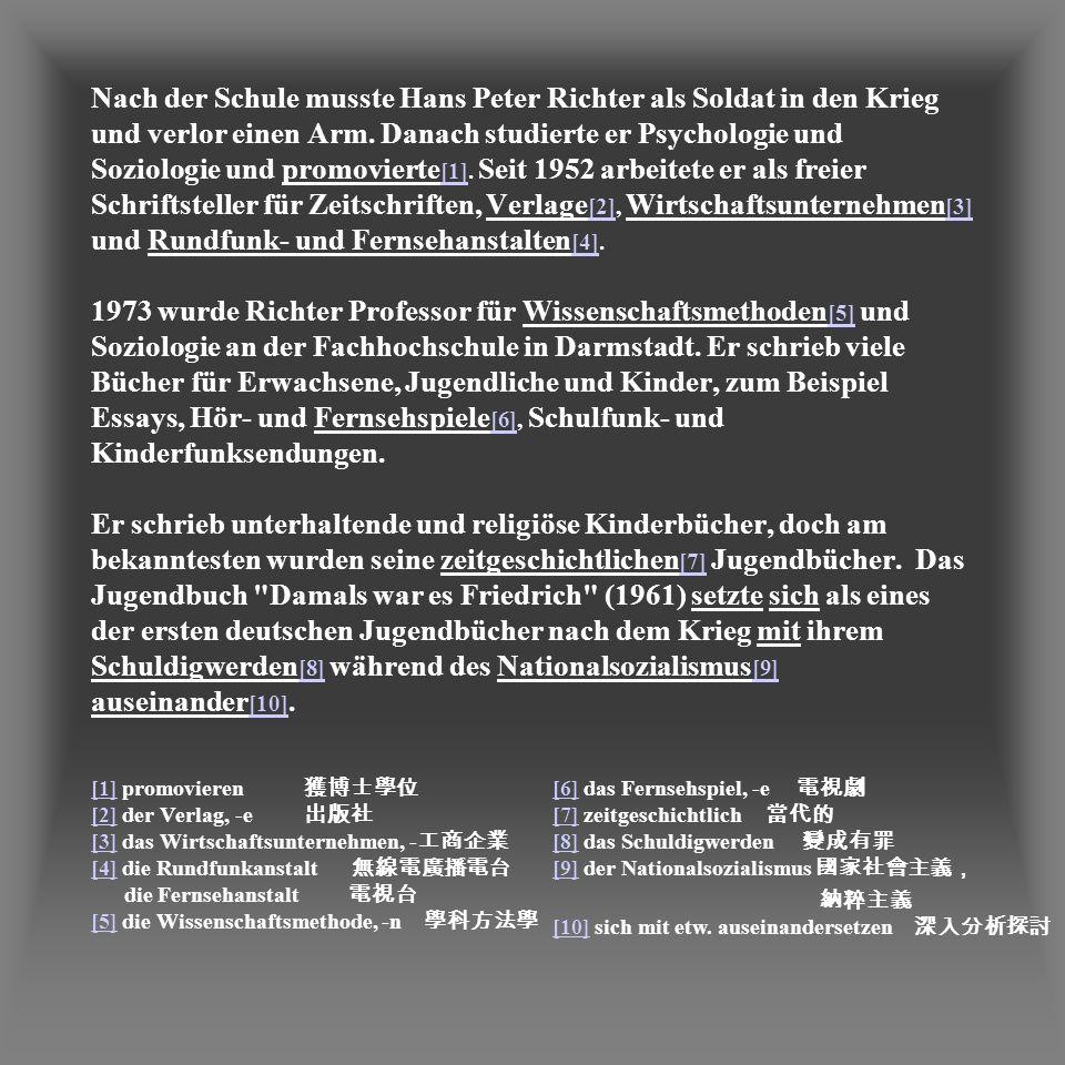 Peter Hans Richter * geboren 1926 in Köln gestorben 1993