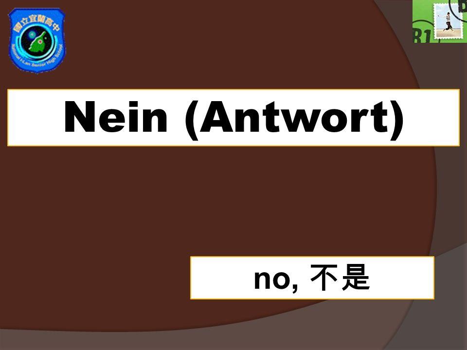 Nein (Antwort) no,