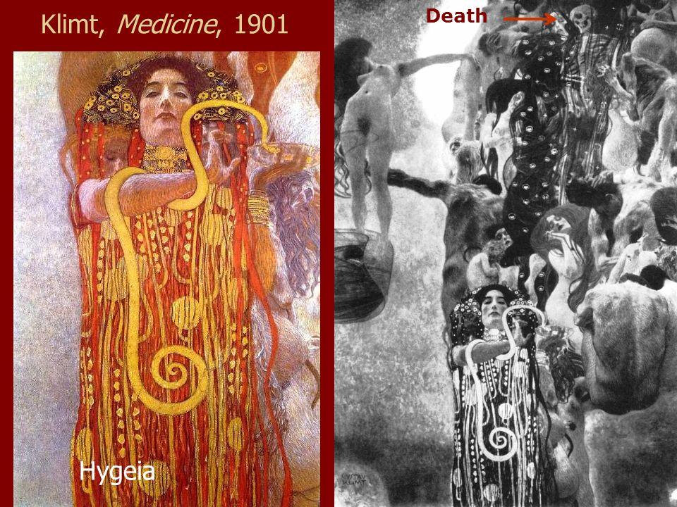 Klimt, Medicine, 1901 Hygeia Death
