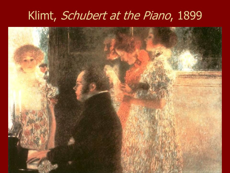 Klimt, Schubert at the Piano, 1899