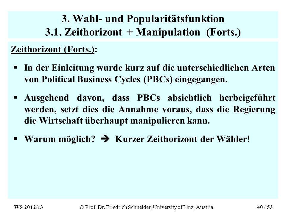 3. Wahl- und Popularitätsfunktion 3.1.