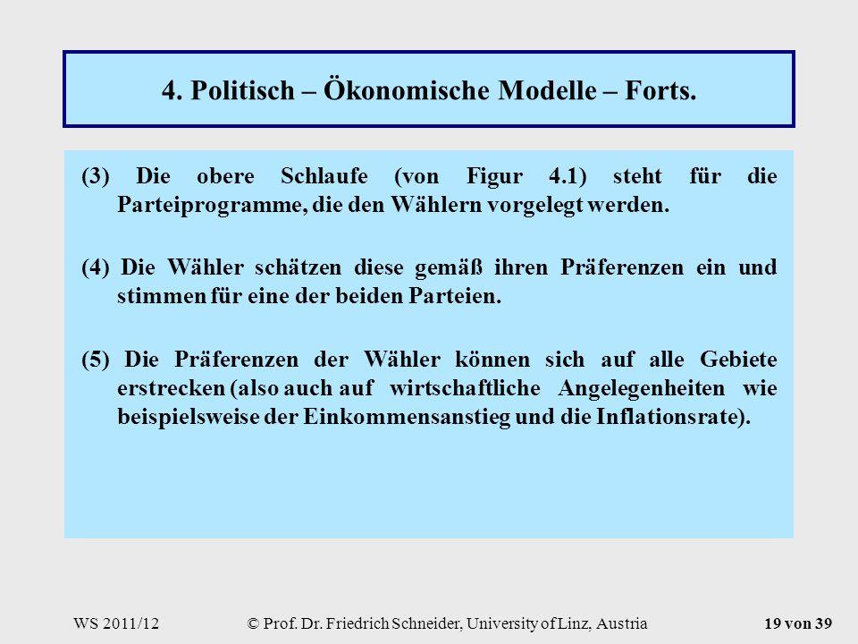 WS 2011/12© Prof. Dr. Friedrich Schneider, University of Linz, Austria19 von 39 4.