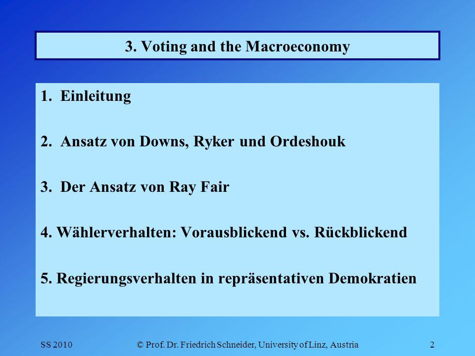 SS 2010© Prof.Dr. Friedrich Schneider, University of Linz, Austria3 1.