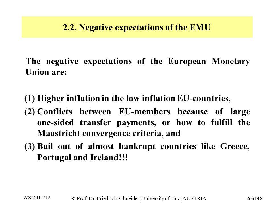 Tabelle A.4: Defizit und Verschuldung in 13 kleinen offenen EU-Ländern Prof.