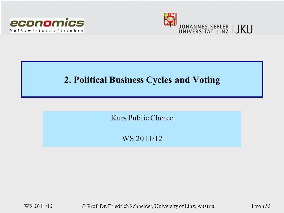WS 2011/12© Prof. Dr. Friedrich Schneider, University of Linz, Austria1 von 53 2.