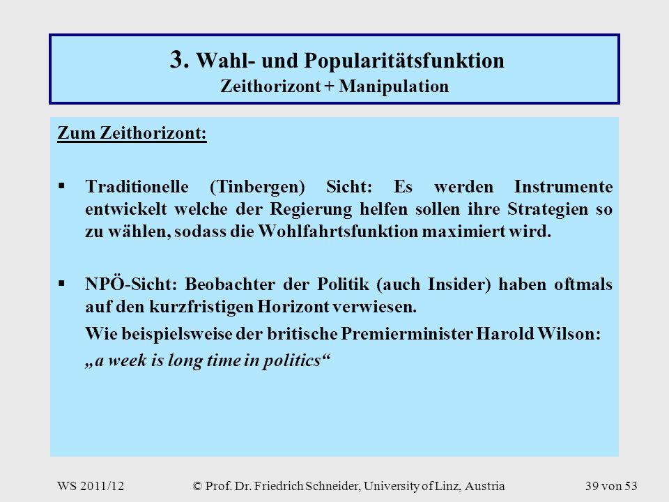 WS 2011/12© Prof. Dr. Friedrich Schneider, University of Linz, Austria39 von 53 3.