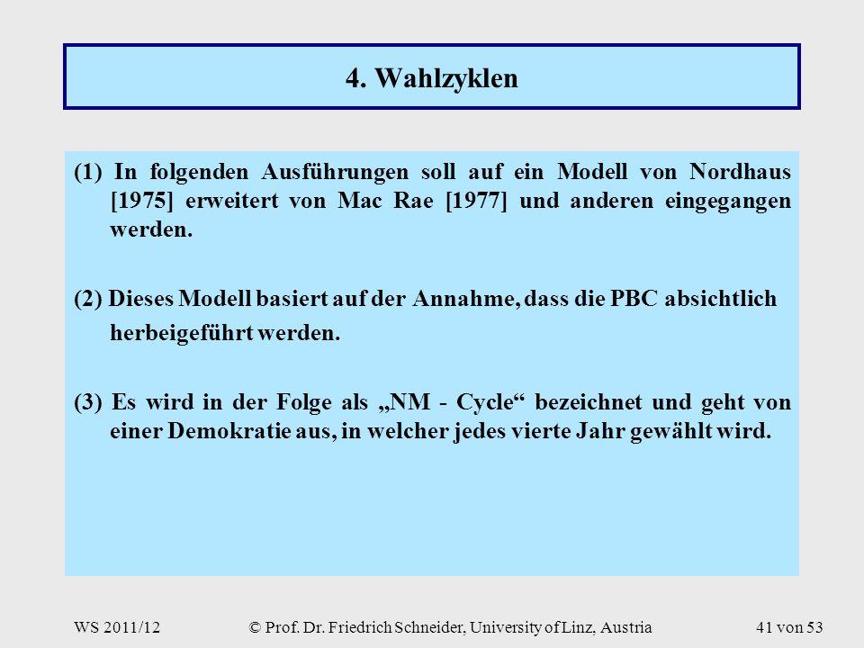 WS 2011/12© Prof. Dr. Friedrich Schneider, University of Linz, Austria41 von 53 4.